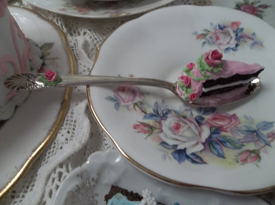(Slice Of The Good Life) Vintage Teaspoon Decoration