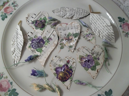 (Love Notes From Pansies) DIY Sheet Music Scrap For Your Craft Projects