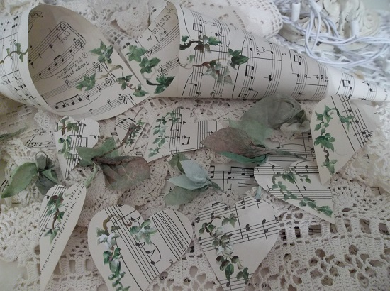 (Irish Ivy) DIY Sheet Music Scrap For Your Craft Projects