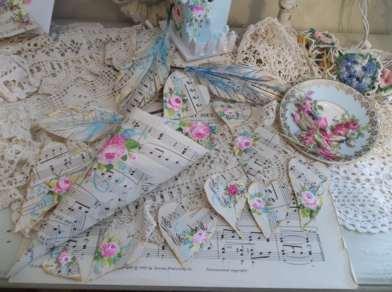 (Love Notes And Gilded Feathers) DIY Sheet Music Scrap For Your Craft Projects