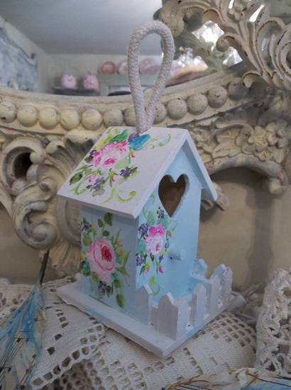 (Song Of Spring) Handpainted Birdhouse