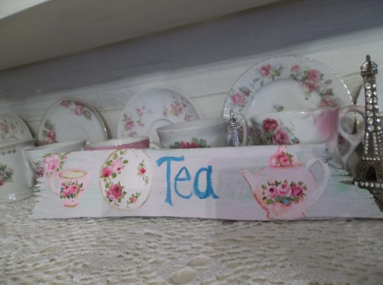 (Tea Finery) Handpainted Sign