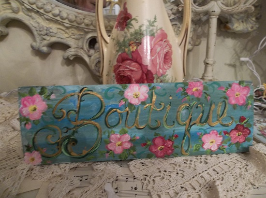 (Boutique) Handpainted Sign