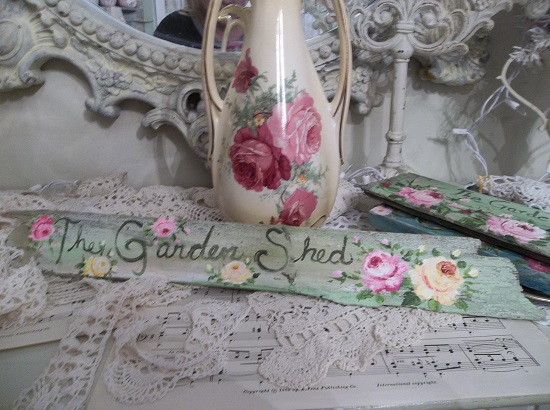 (The Garden Shed) Handpainted Sign