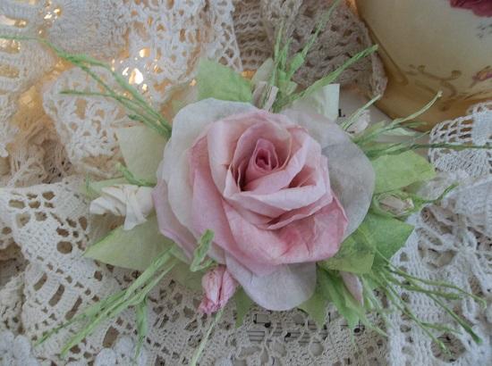 (Star Sheena) Handmade Paper Rose Clip