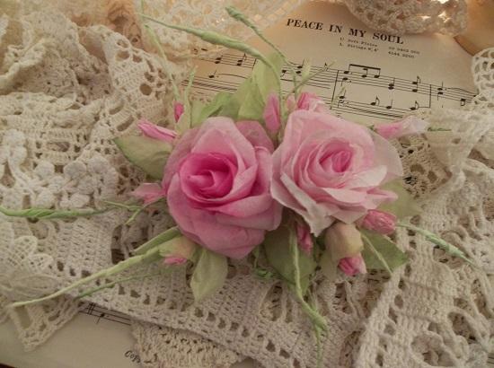 (Roda) Handmade Paper Rose Clip