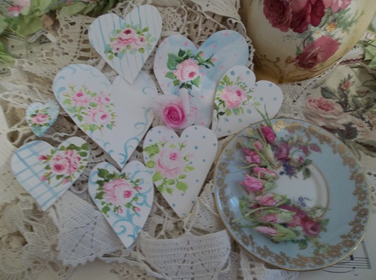 (Rose And Sky) DIY Sheet Music Scrap For Your Craft Projects