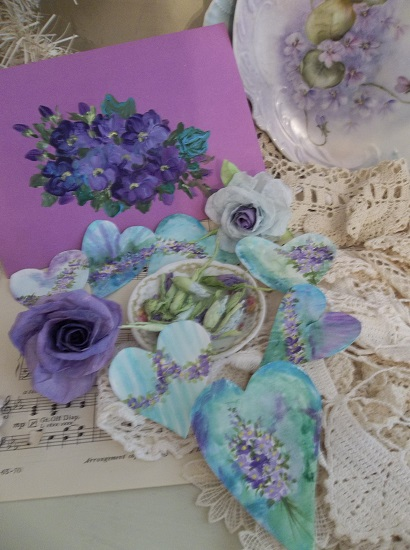 (Blue Violet) DIY Sheet Music Scrap For Your Craft Projects