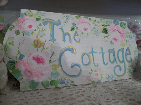 (The Pastel Cottage) Handpainted Sign