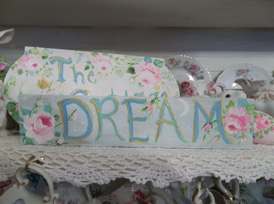 (Moon Dream) Handpainted Sign