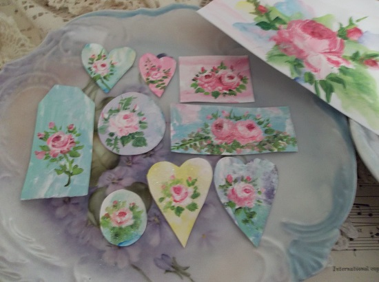 (Dreams) DIY Handpainted And Glittered Card Stock Cutouts And More