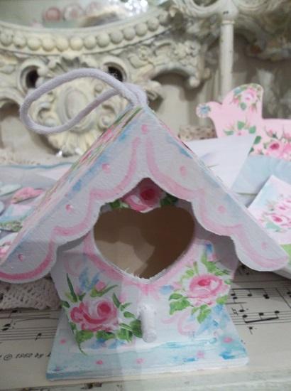 (Springtime) Handpainted Birdhouse
