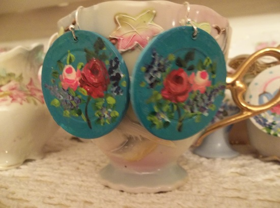 (Joy) Handpainted Earrings