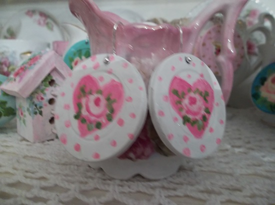 (Sweet Love) Handpainted Earrings
