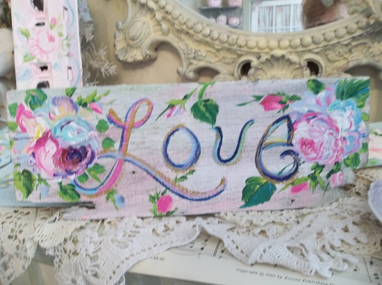 (Over The Rainbow Old Love) Handpainted Sign