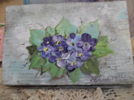 (Old Violets) Handpainted Sign
