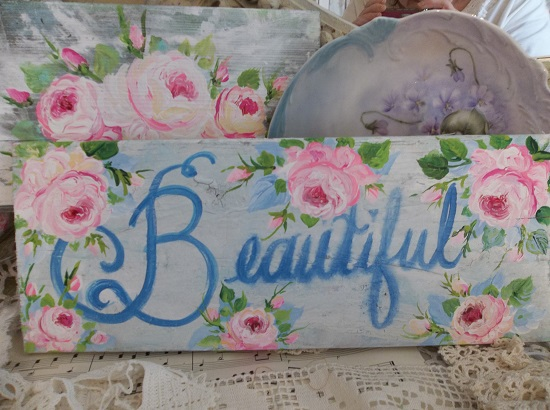(Blue And Beautiful) Handpainted Sign