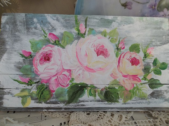 (Sisters Rose) Handpainted Sign