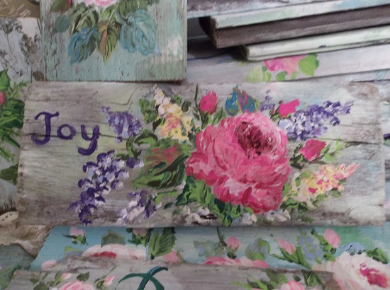 (Joy Of Spring) Handpainted Sign