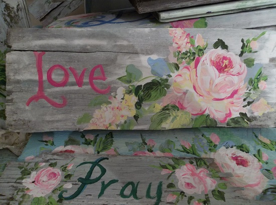 (Love Of Spring) Handpainted Sign