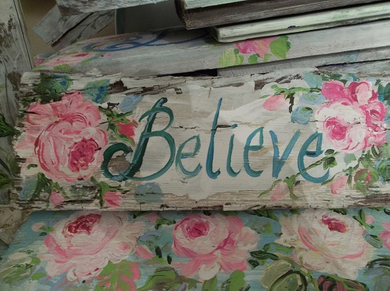 (I Believe) Handpainted Sign