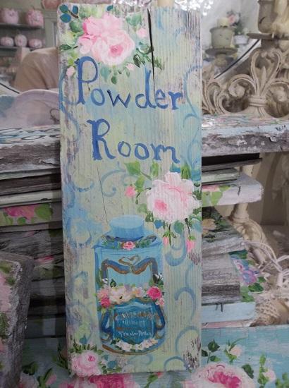 (California Powder Room) Handpainted Sign