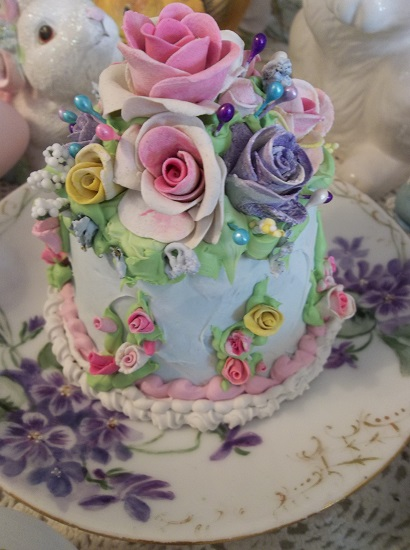 (Colors Of Spring) Funky Junk Fake Cake