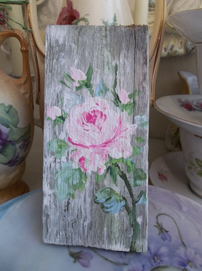 (Tattered Rose) Handpainted Sign