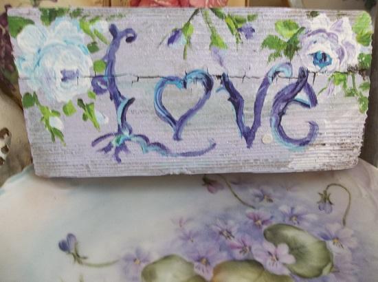 (Lavender Love) Handpainted Sign