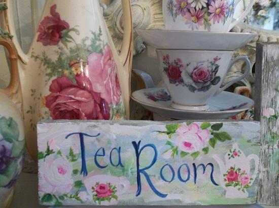 (Sweetest Little Tea Room) Handpainted Sign