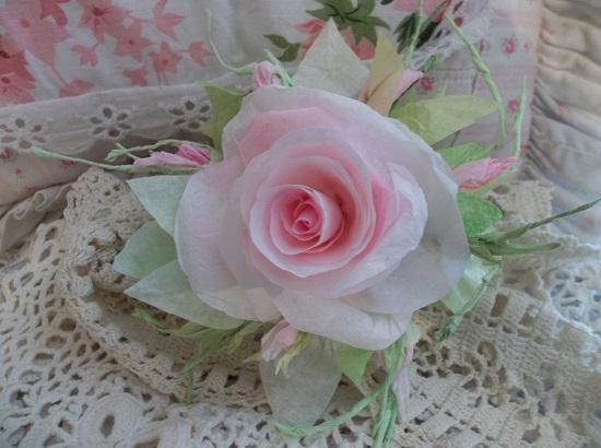 (Brigetta) Handmade Paper Rose Clip