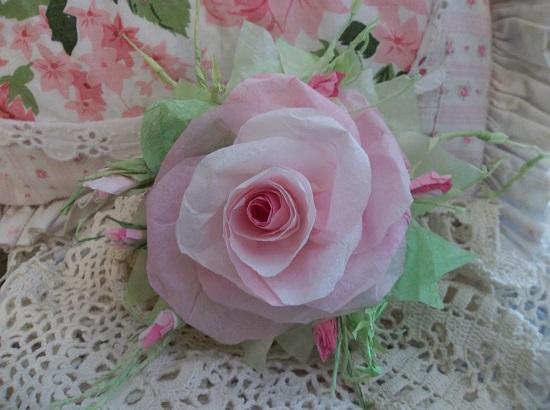 (Angelina) Handmade Paper Rose Clip