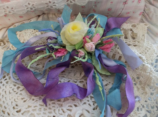 (Spring Fling) Handmade Paper Rose Clip