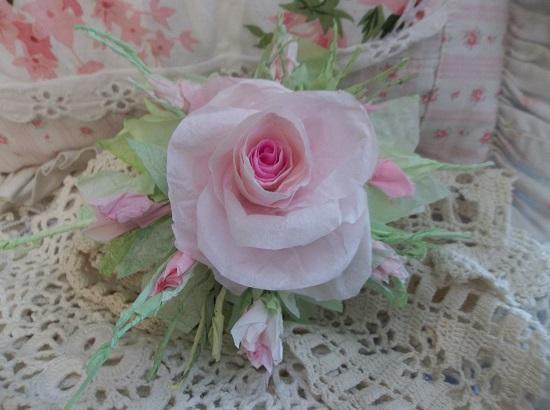 (Jodi Anne) Handmade Paper Rose Clip