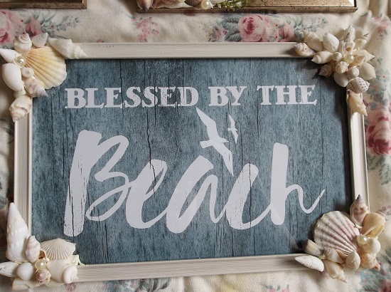 (Blessed By The Beach) Beach Themed Wall Decor