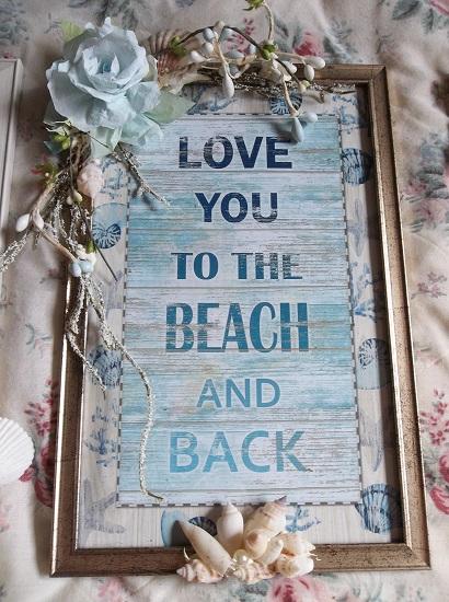 (Love You) Beach Themed Wall Decor