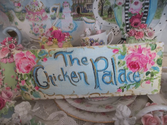 (The Chicken Palace) Handpainted Sign