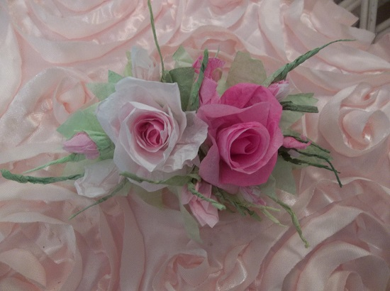 (Cindy's Love) Handmade Paper Rose Clip