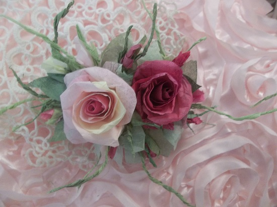 (The Fairest Of All Roses) Handmade Paper Rose Clip