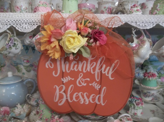 (Thankfully Blessed) Decorated Pumpkin Decor
