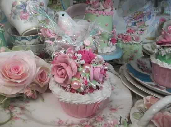 (Sherbet Rosa) Fake Cupcake