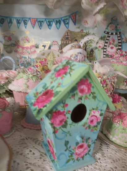 (Sea Rose) Handpainted Birdhouse