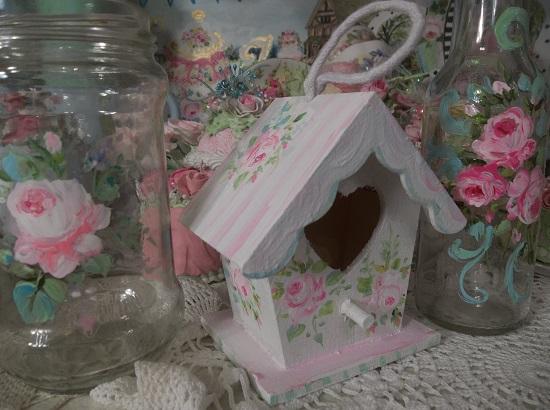 (Sweetest Little Cottage) Handpainted Birdhouse