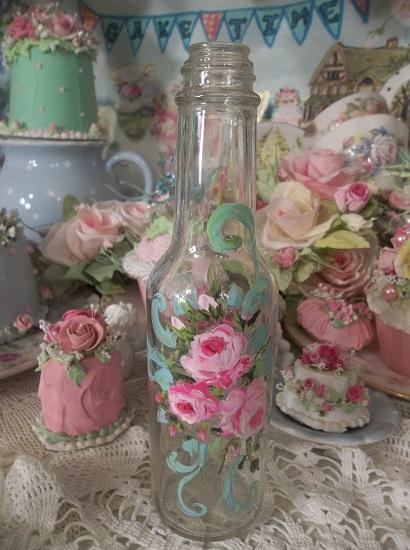 (Gypsy Tonic) Handpainted Bottle