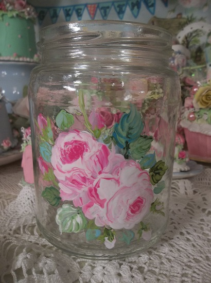 (Darlin) Handpainted Jar