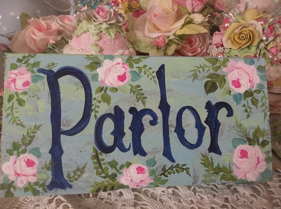 (Pretty Parlor) Handpainted Sign