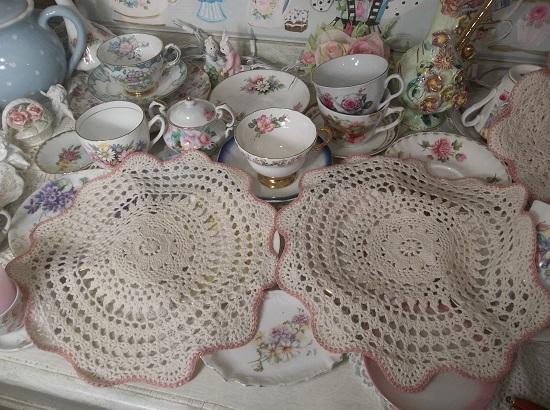 (Gram's Crochet Cottage) 2 Piece Crochet Doilies