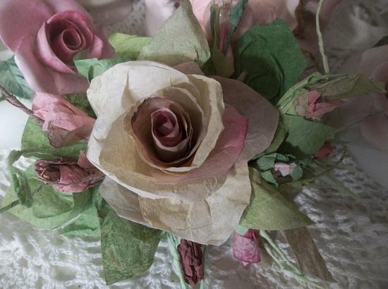 (Joanna) Handmade Paper Rose Clip