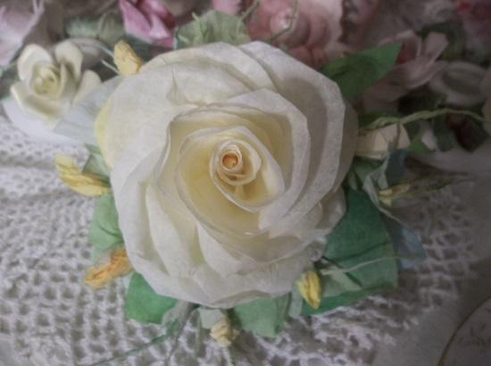 (Josephine) Handmade Paper Rose Clip