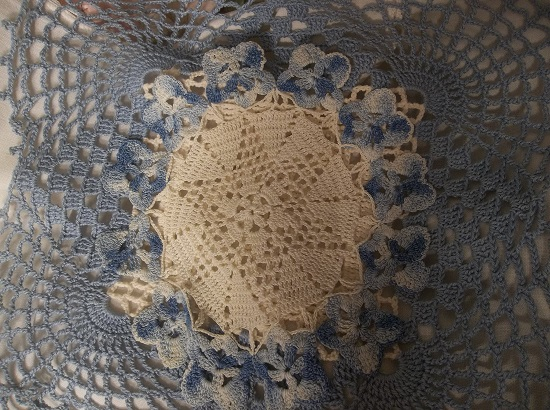 (Blue Pair) Set Of 2 Crochet Pieces